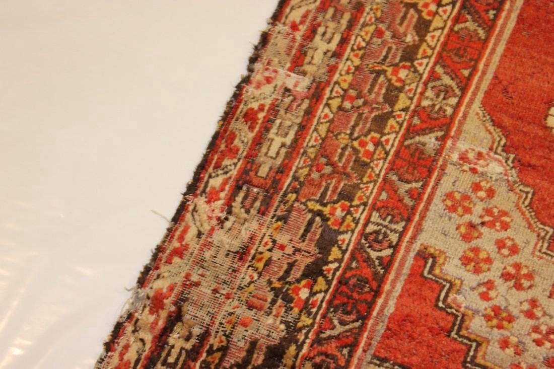 """Antique Handmade Caucasion Rug 4'2"""" x 9'2"""" - 7"""