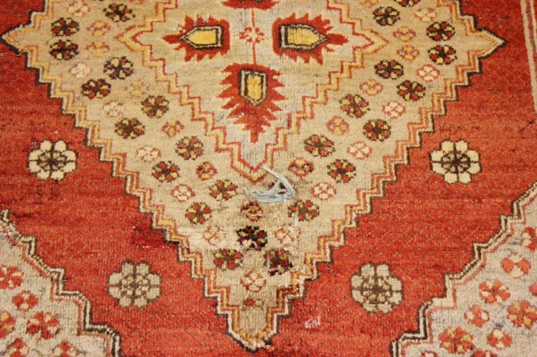 """Antique Handmade Caucasion Rug 4'2"""" x 9'2"""" - 8"""