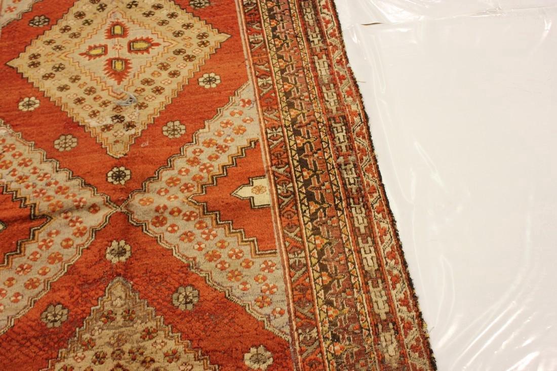 """Antique Handmade Caucasion Rug 4'2"""" x 9'2"""" - 9"""
