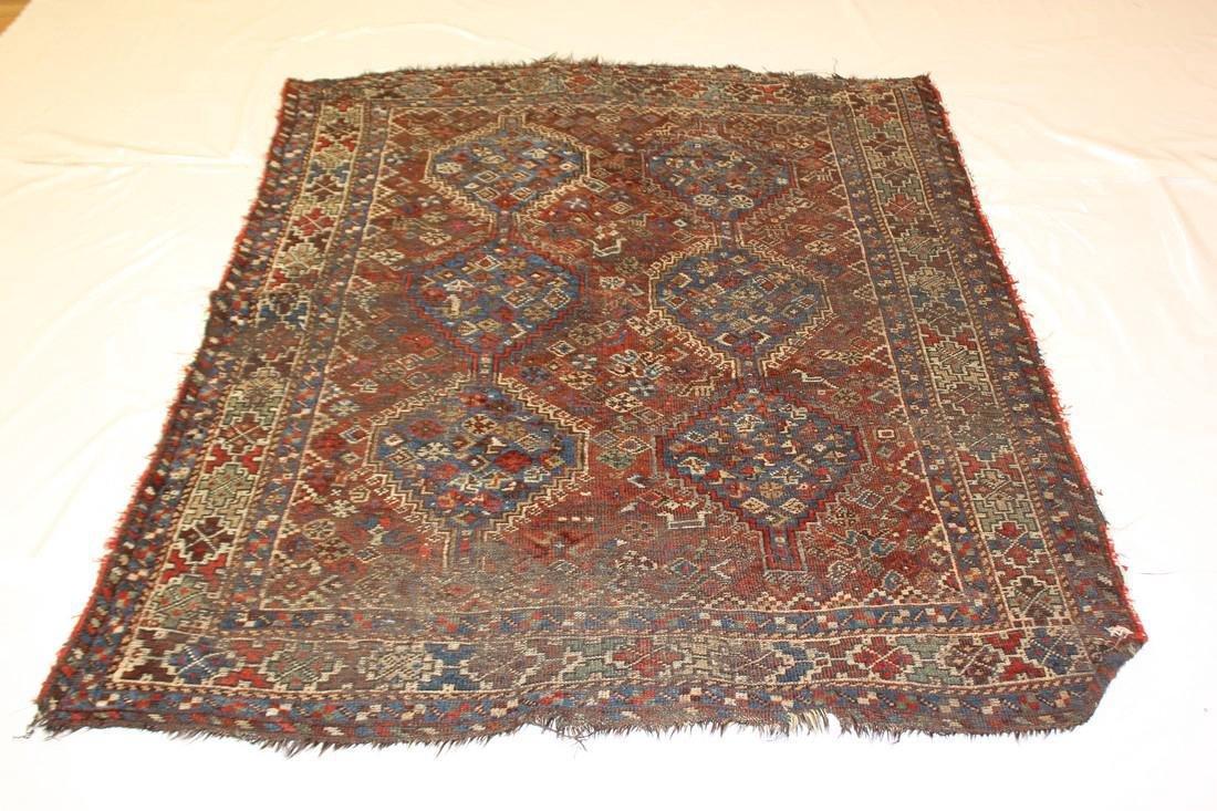 """Handmade Antique Shiraz Rug 5'4"""" x 6'4"""""""