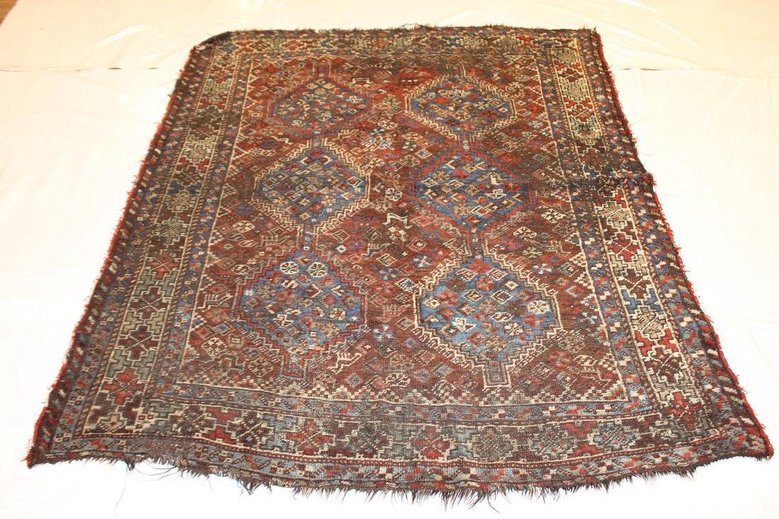 """Handmade Antique Shiraz Rug 5'4"""" x 6'4"""" - 2"""