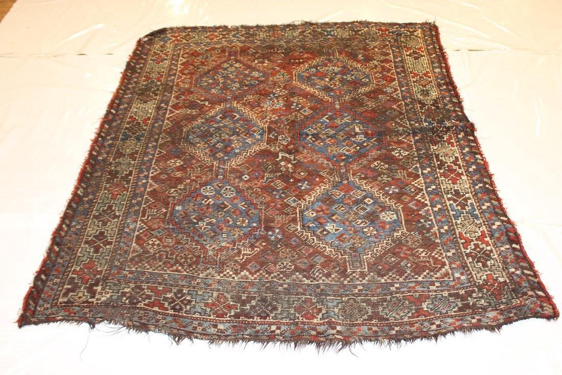"""Handmade Antique Shiraz Rug 5'4"""" x 6'4"""" - 3"""