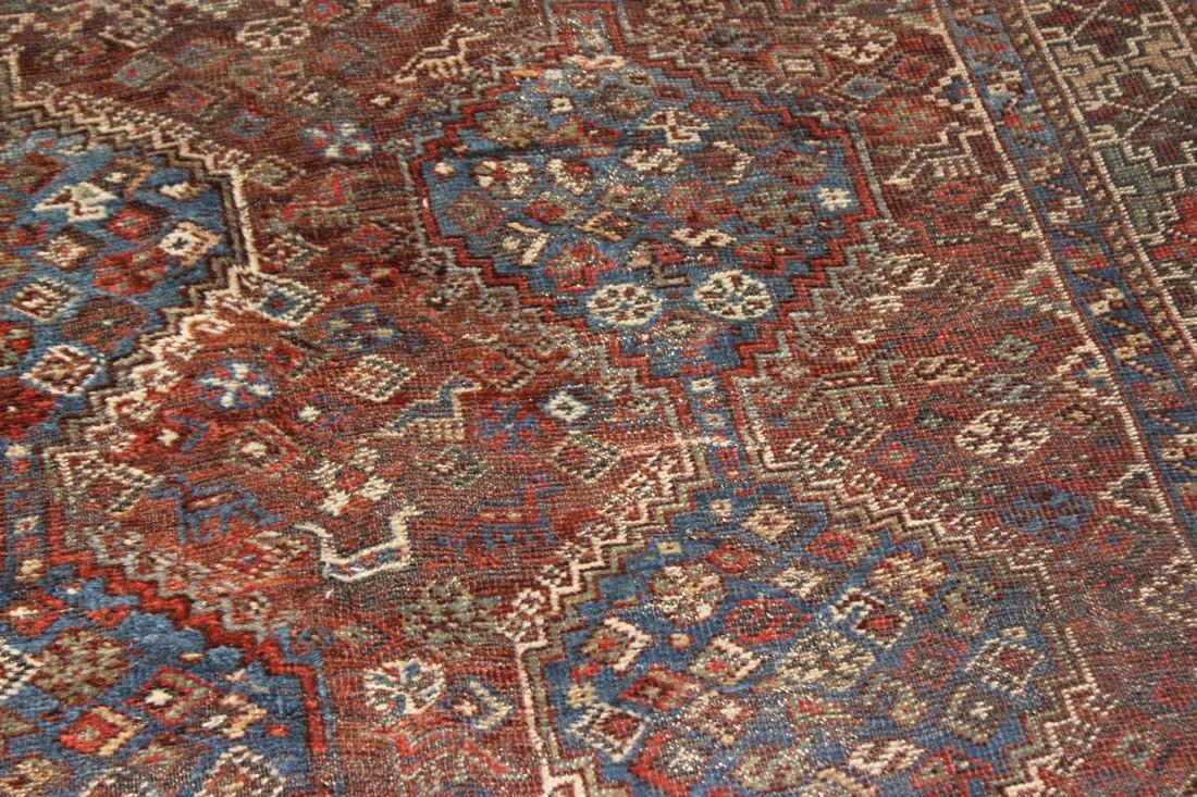 """Handmade Antique Shiraz Rug 5'4"""" x 6'4"""" - 7"""