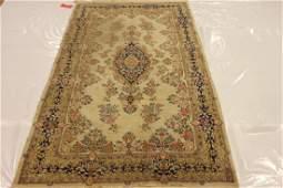 "Antique Handmade Persian Kerman Wool Rug 4'2"" x 7'1"""