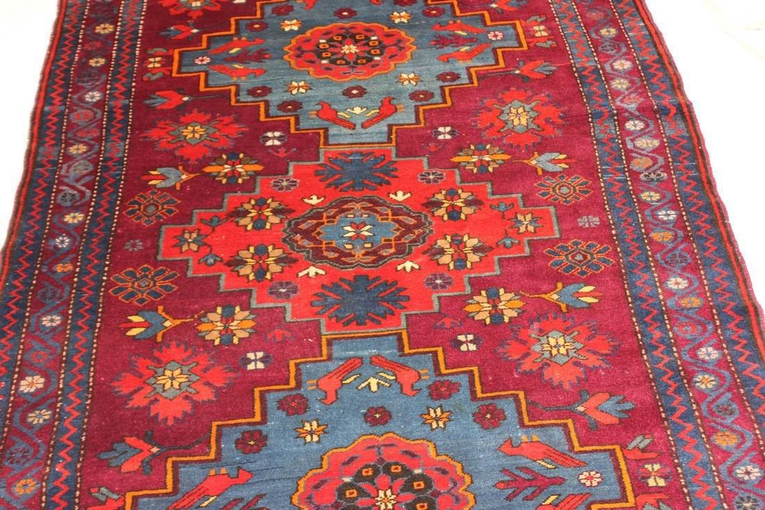 """Antique Handmade Kazak Caucasion Rug 4'2"""" x 6'2"""" - 10"""