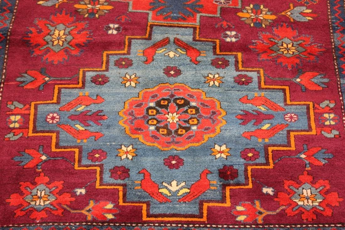 """Antique Handmade Kazak Caucasion Rug 4'2"""" x 6'2"""" - 3"""