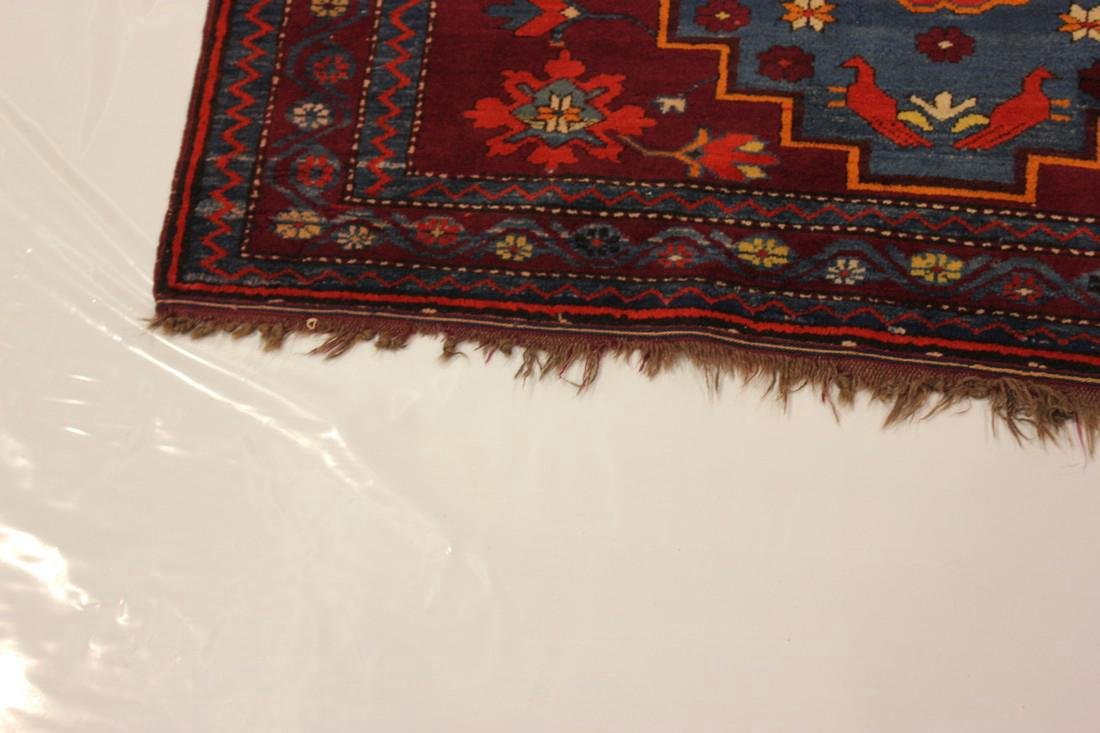 """Antique Handmade Kazak Caucasion Rug 4'2"""" x 6'2"""" - 4"""