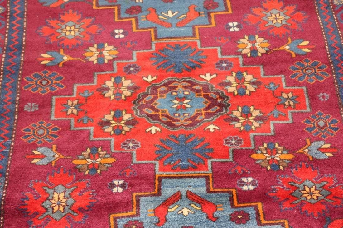 """Antique Handmade Kazak Caucasion Rug 4'2"""" x 6'2"""" - 5"""