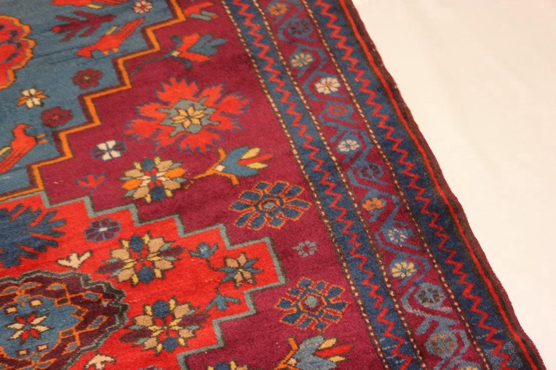 """Antique Handmade Kazak Caucasion Rug 4'2"""" x 6'2"""" - 6"""