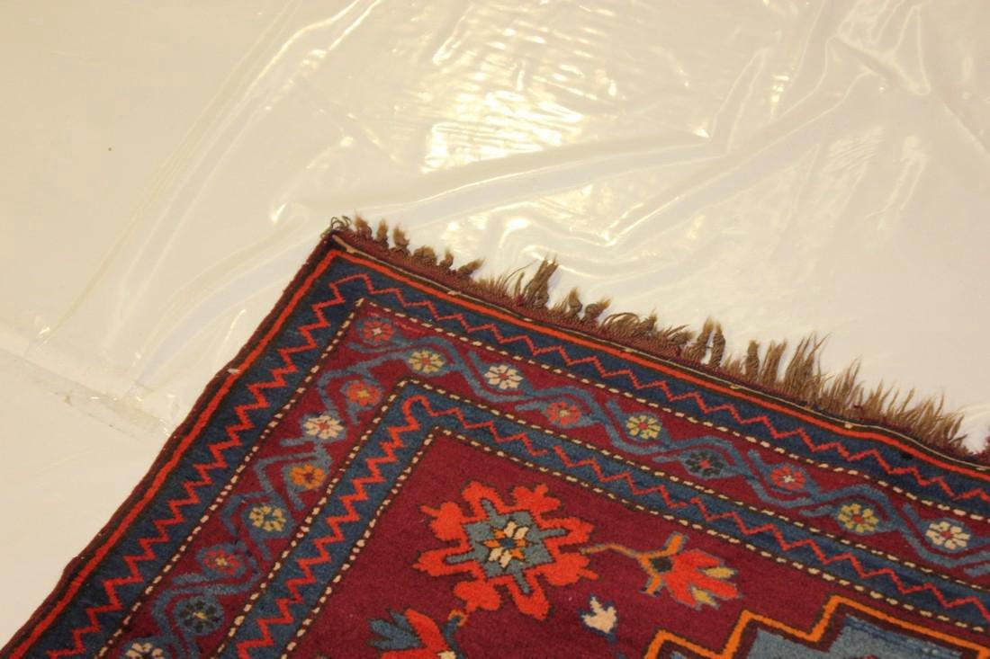 """Antique Handmade Kazak Caucasion Rug 4'2"""" x 6'2"""" - 8"""