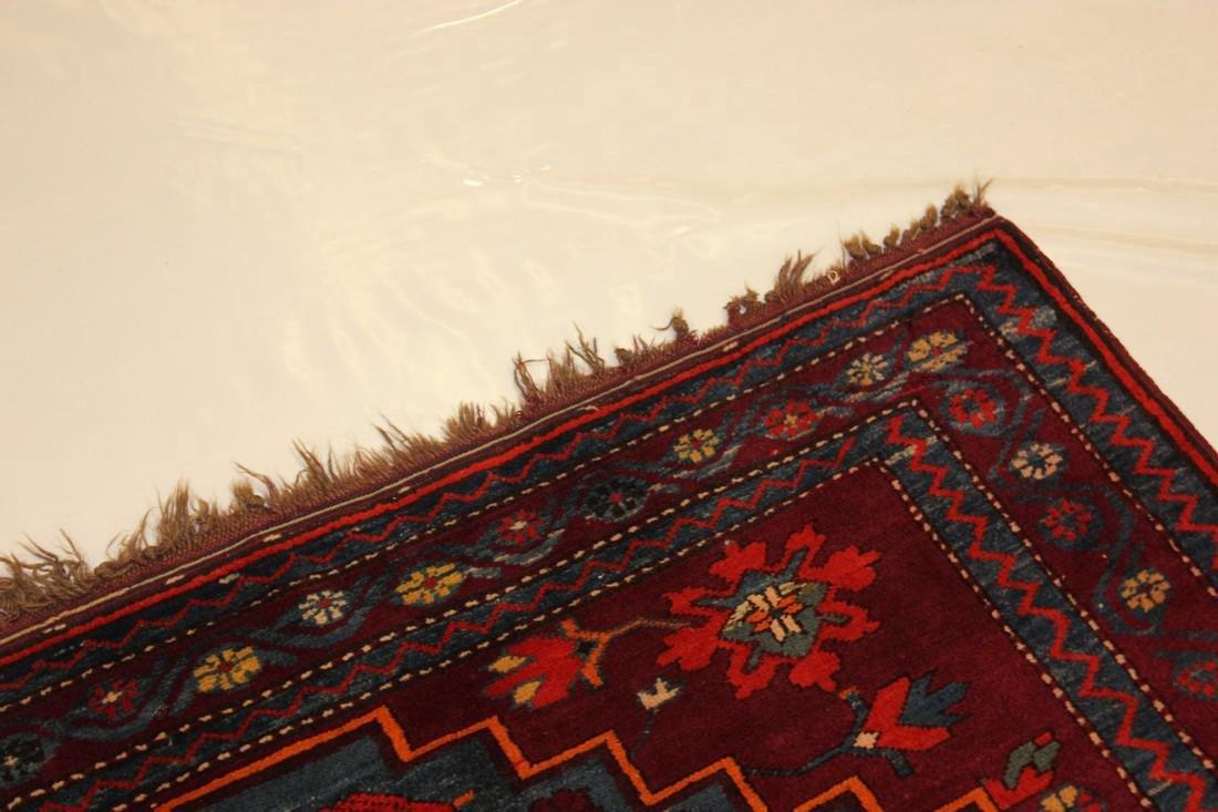 """Antique Handmade Kazak Caucasion Rug 4'2"""" x 6'2"""" - 9"""