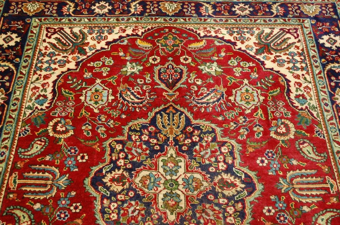 "Antique Fine Persian Tabriz Wool Rug 4'10"" x 6'3"" - 10"