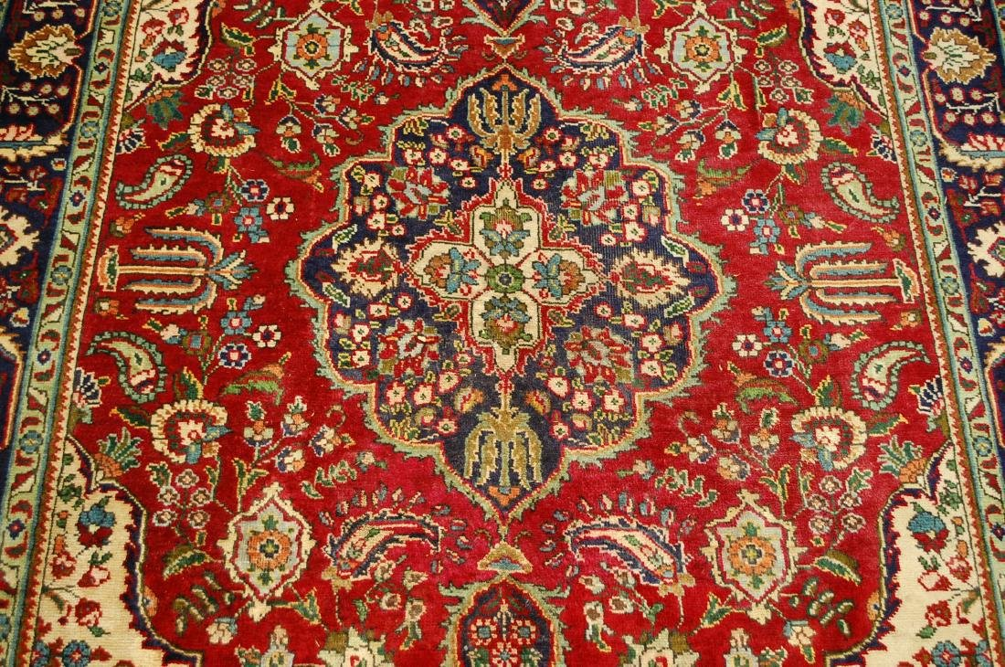 "Antique Fine Persian Tabriz Wool Rug 4'10"" x 6'3"" - 6"
