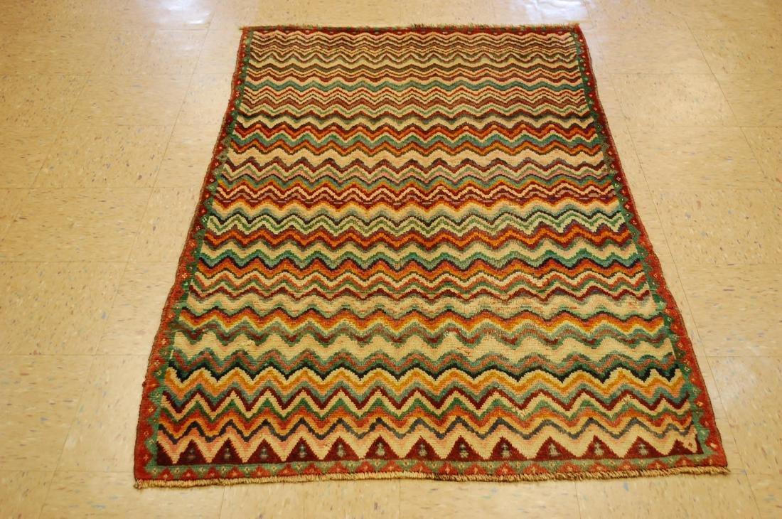 "Antique Persian Kourd Bijar Halvai Wool Rug 3'6"" x 6'"