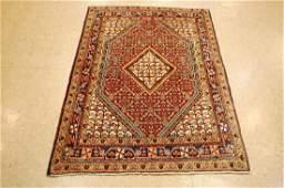 Antique Detailed Persian Sarouk Wool Rug 36 x 52