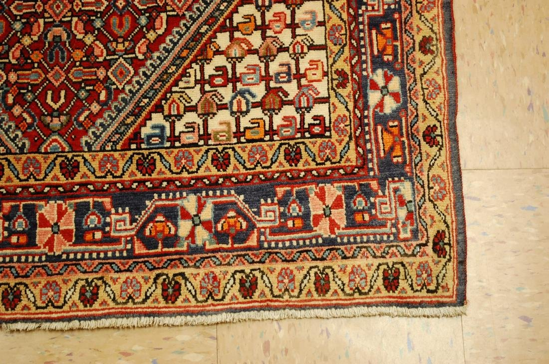 "Antique Detailed Persian Sarouk Wool Rug 3'6"" x 5'2"" - 2"
