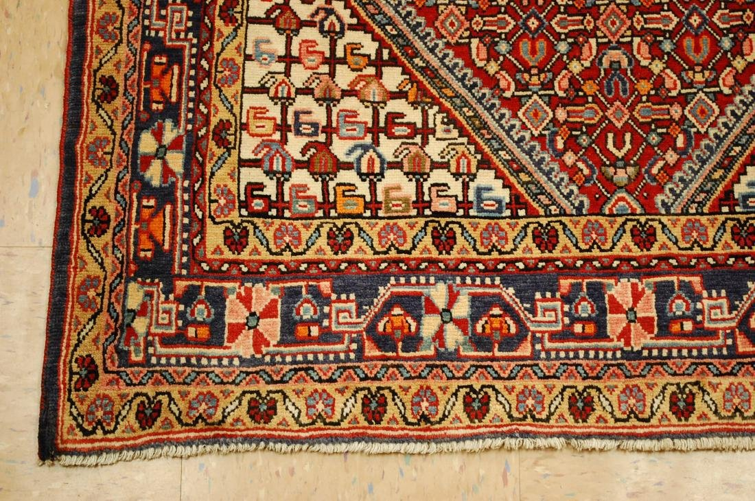 "Antique Detailed Persian Sarouk Wool Rug 3'6"" x 5'2"" - 3"
