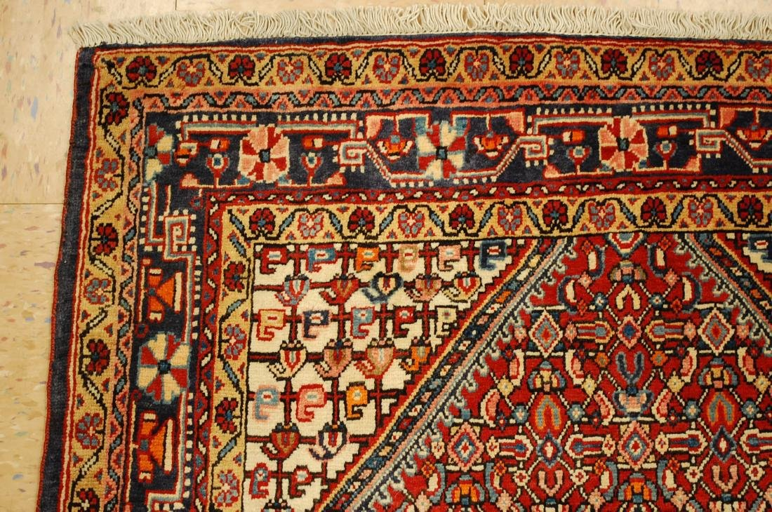 "Antique Detailed Persian Sarouk Wool Rug 3'6"" x 5'2"" - 4"
