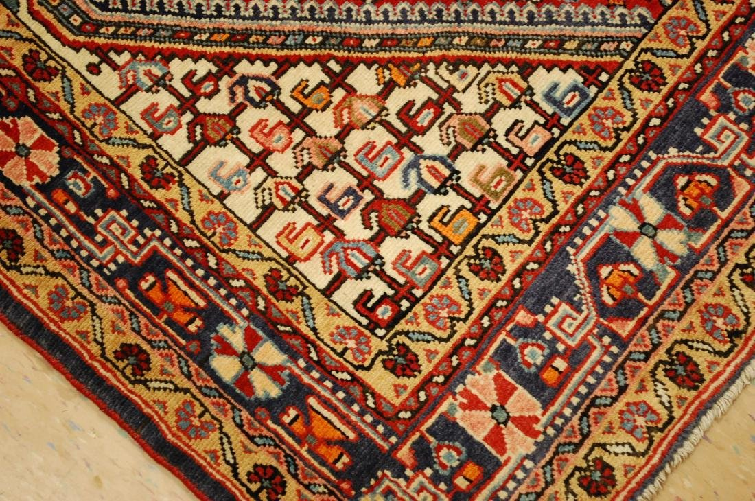"Antique Detailed Persian Sarouk Wool Rug 3'6"" x 5'2"" - 9"