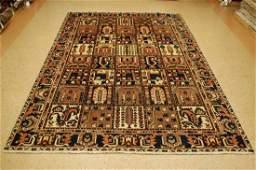 "Antique Persian Bakhtiari Wool Rug 6'10"" x 10'"
