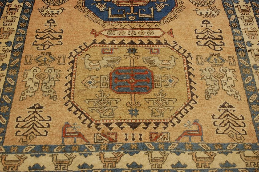 "Antique Caucasian Shirvan Kazak Wool Rug 4'6"" x 6' 3"" - 10"