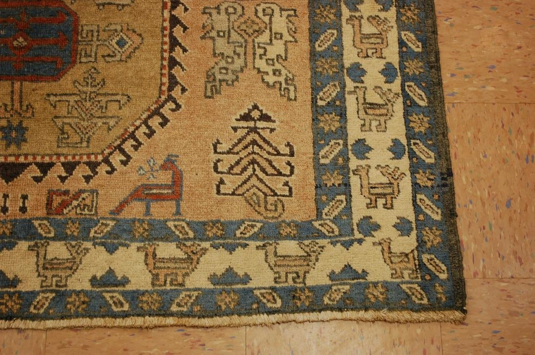 "Antique Caucasian Shirvan Kazak Wool Rug 4'6"" x 6' 3"" - 2"
