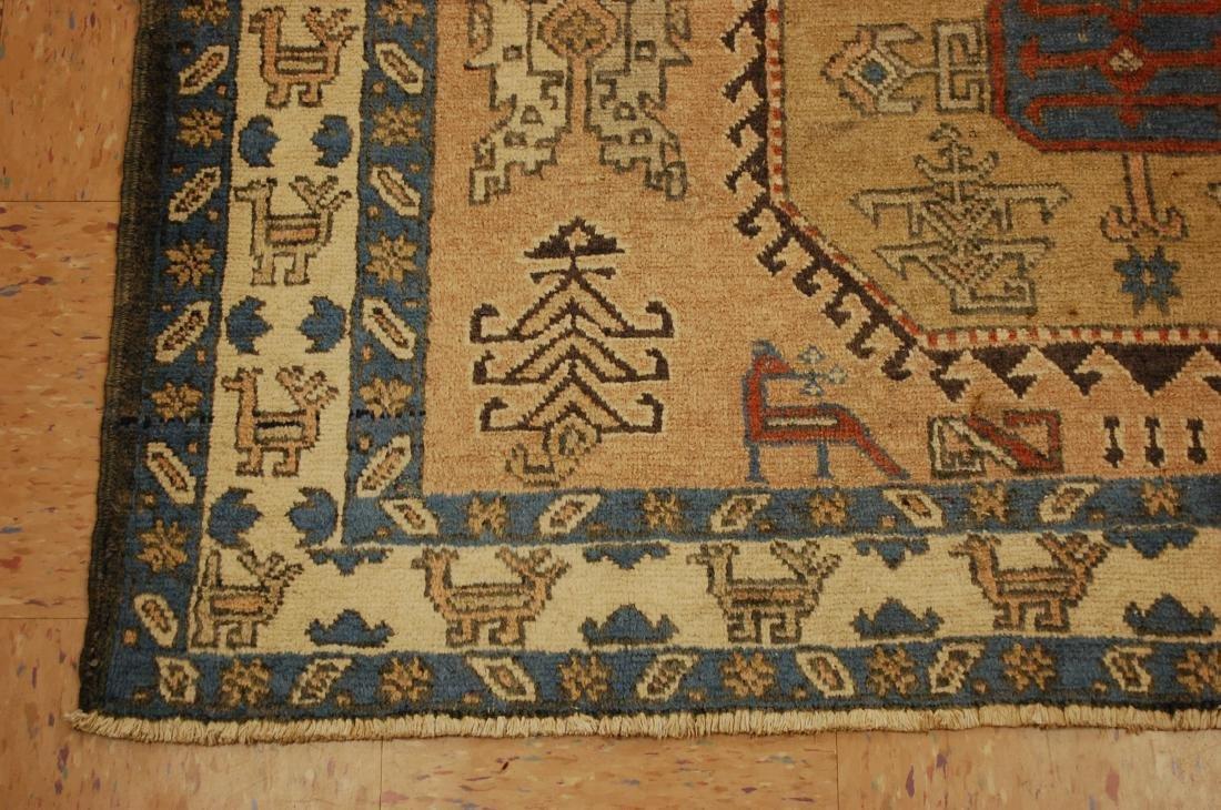 "Antique Caucasian Shirvan Kazak Wool Rug 4'6"" x 6' 3"" - 3"
