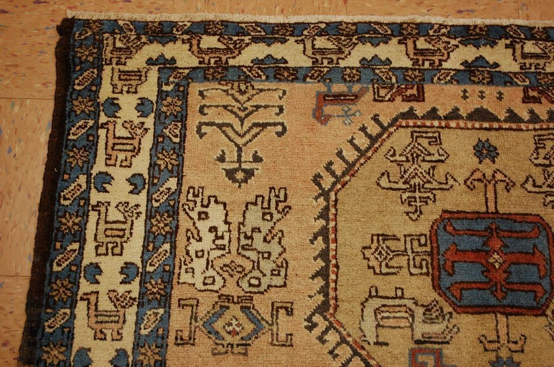 "Antique Caucasian Shirvan Kazak Wool Rug 4'6"" x 6' 3"" - 4"