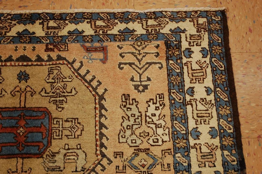 "Antique Caucasian Shirvan Kazak Wool Rug 4'6"" x 6' 3"" - 5"