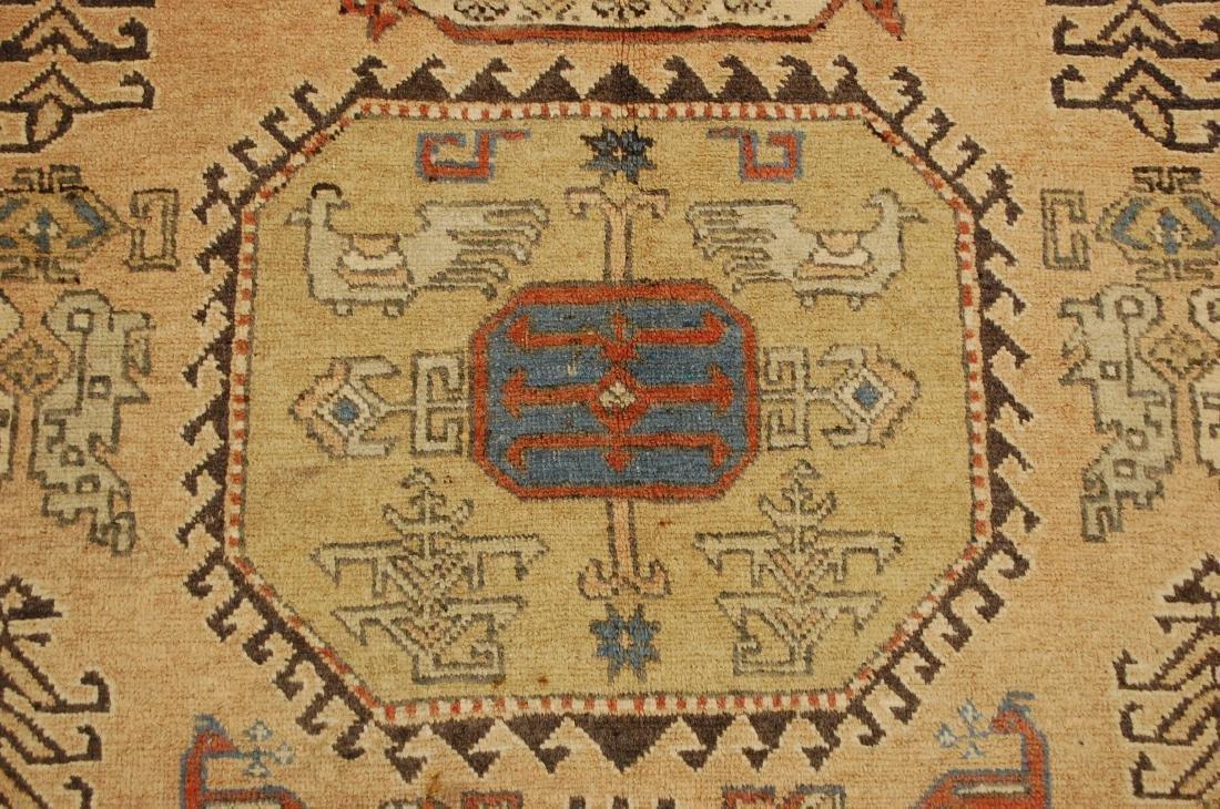 "Antique Caucasian Shirvan Kazak Wool Rug 4'6"" x 6' 3"" - 6"