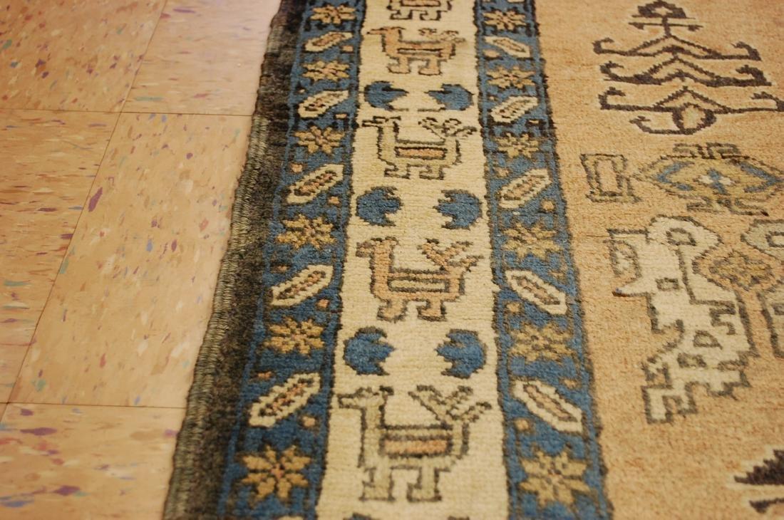 "Antique Caucasian Shirvan Kazak Wool Rug 4'6"" x 6' 3"" - 7"