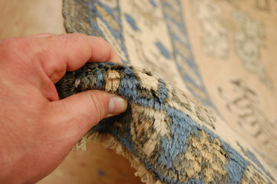 "Antique Caucasian Shirvan Kazak Wool Rug 4'6"" x 6' 3"" - 8"