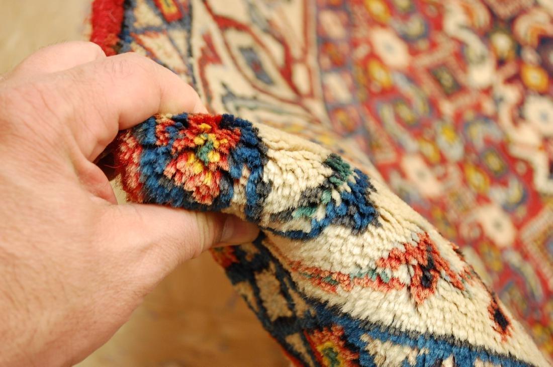 """Antique Detailed Persian Bijar Wool Rug 5' x 8'10"""" - 10"""