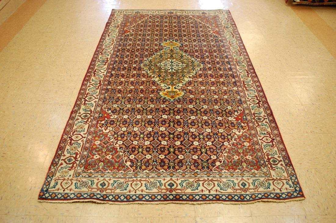 """Antique Detailed Persian Bijar Wool Rug 5' x 8'10"""""""
