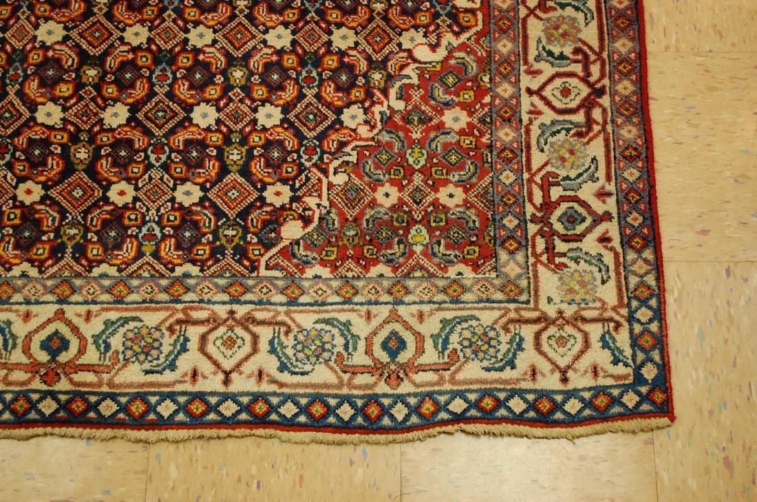 """Antique Detailed Persian Bijar Wool Rug 5' x 8'10"""" - 2"""