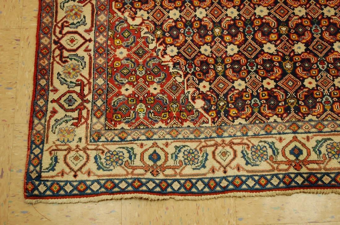"""Antique Detailed Persian Bijar Wool Rug 5' x 8'10"""" - 3"""