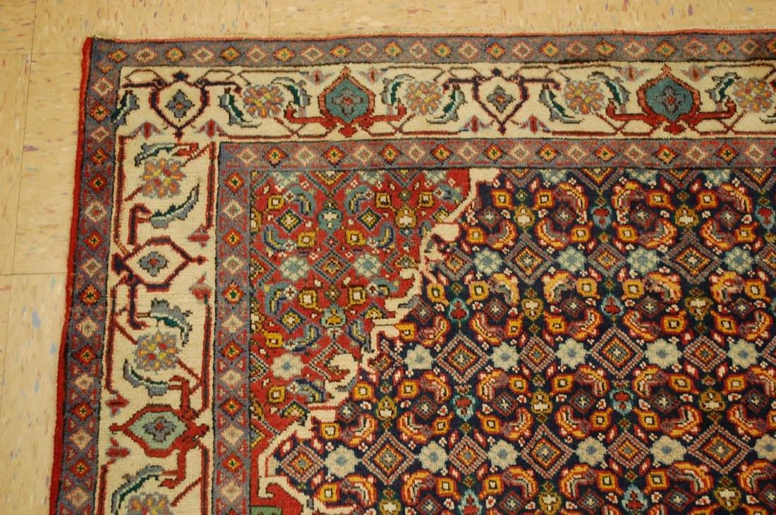 """Antique Detailed Persian Bijar Wool Rug 5' x 8'10"""" - 4"""