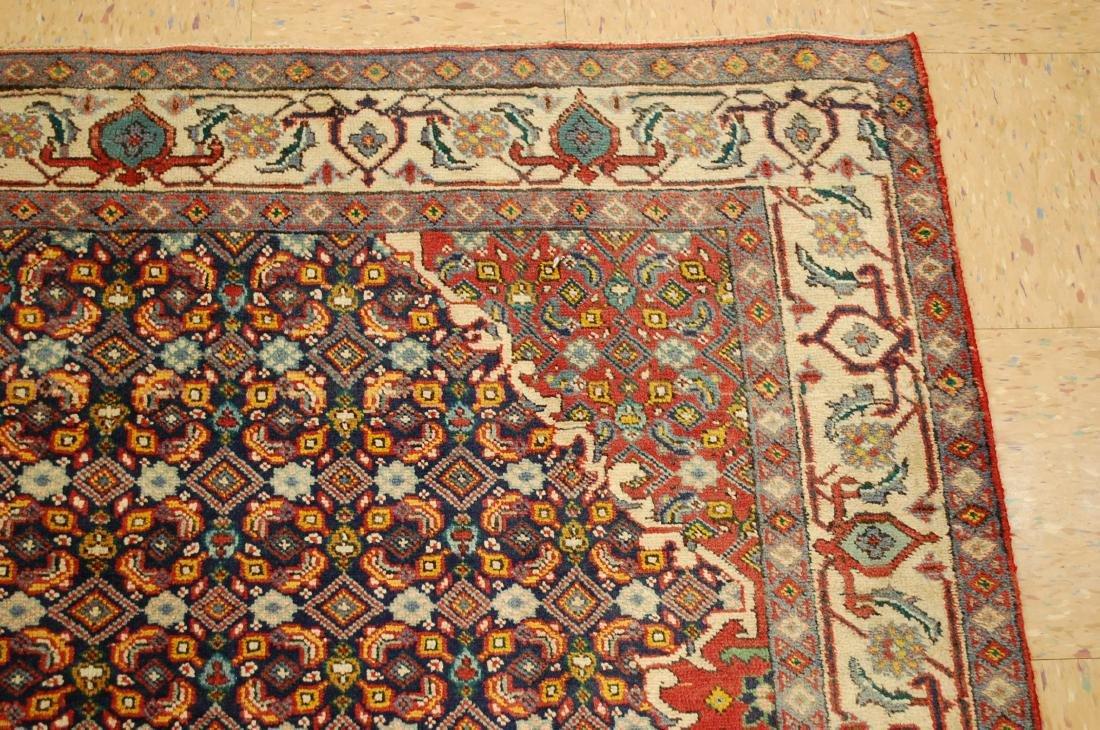"""Antique Detailed Persian Bijar Wool Rug 5' x 8'10"""" - 5"""