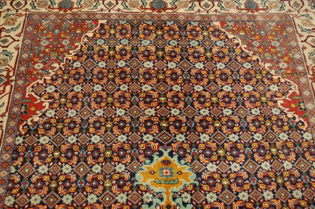 """Antique Detailed Persian Bijar Wool Rug 5' x 8'10"""" - 6"""