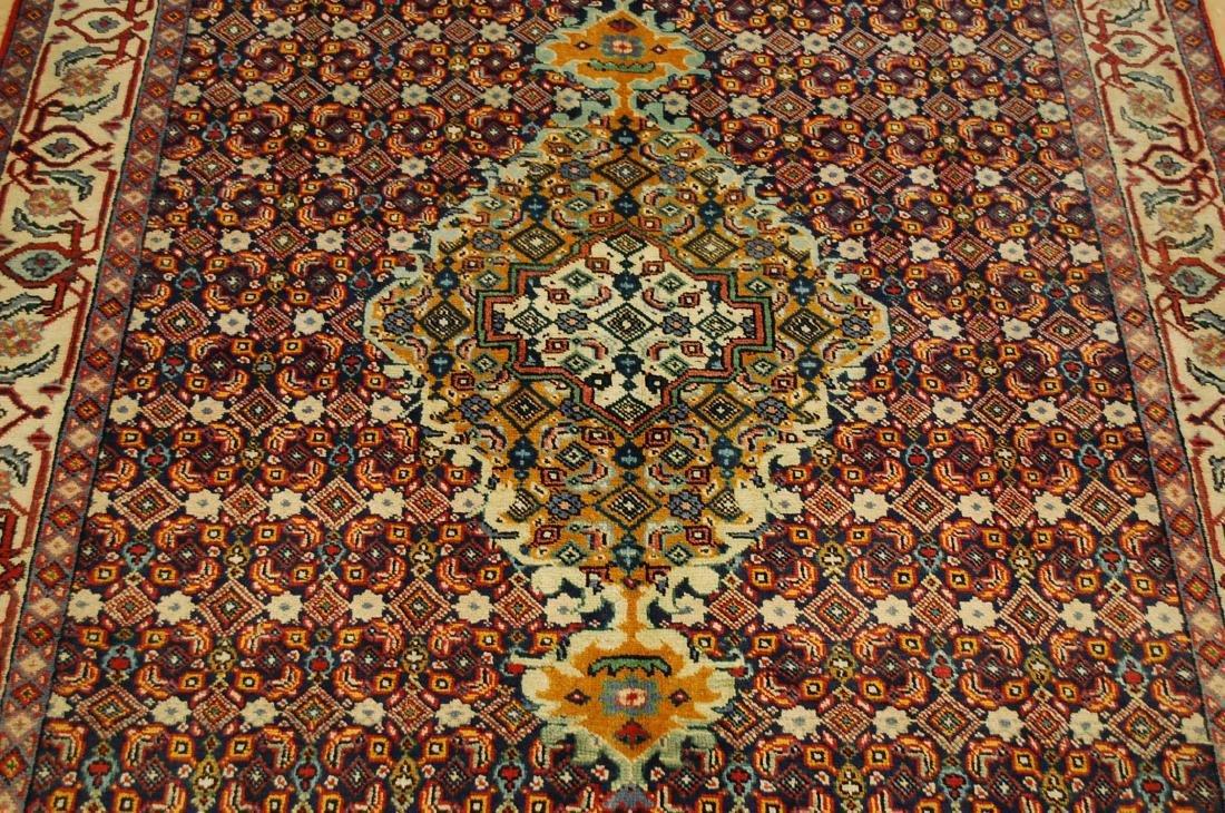 """Antique Detailed Persian Bijar Wool Rug 5' x 8'10"""" - 7"""