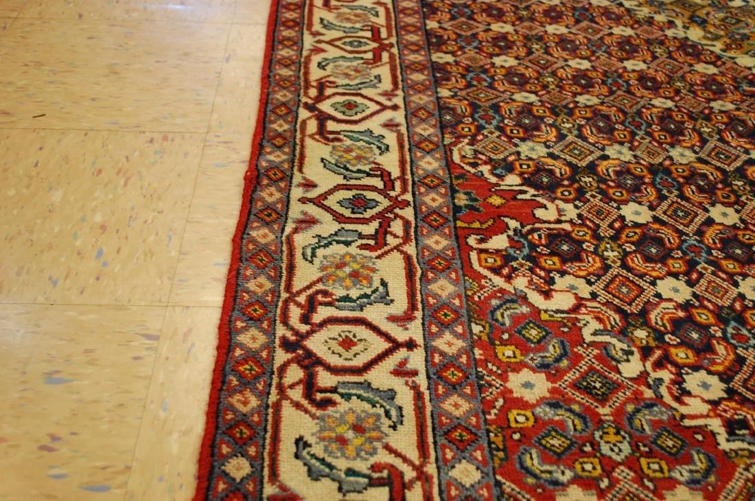 """Antique Detailed Persian Bijar Wool Rug 5' x 8'10"""" - 8"""