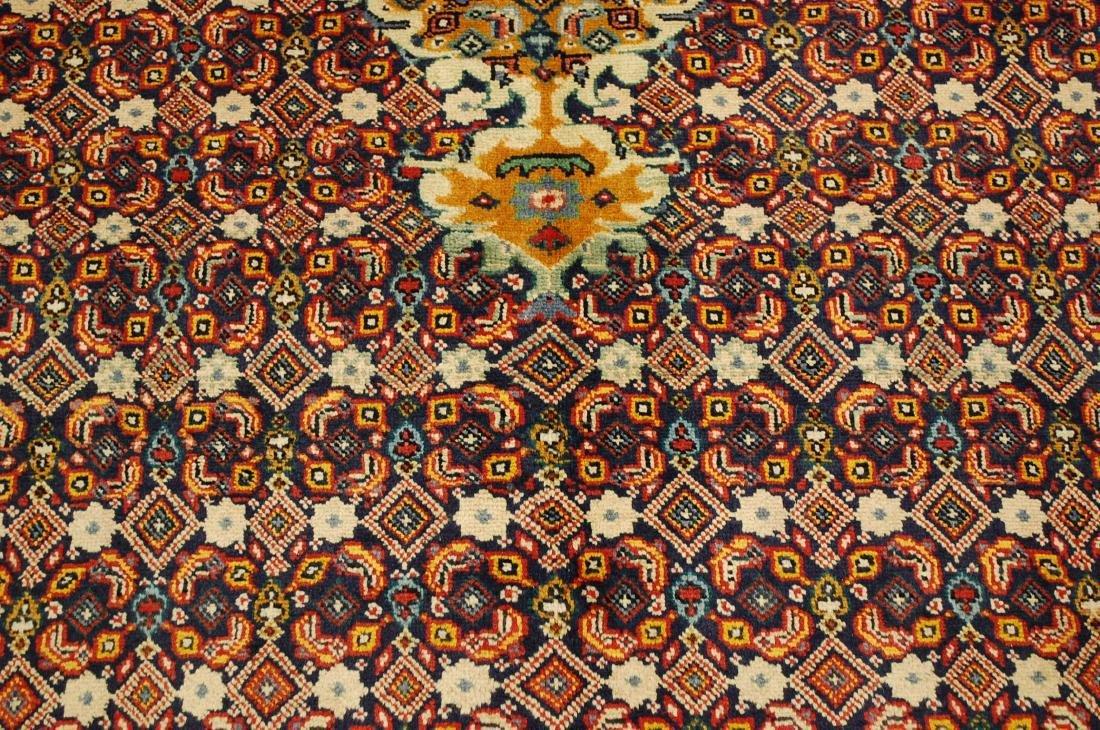 """Antique Detailed Persian Bijar Wool Rug 5' x 8'10"""" - 9"""