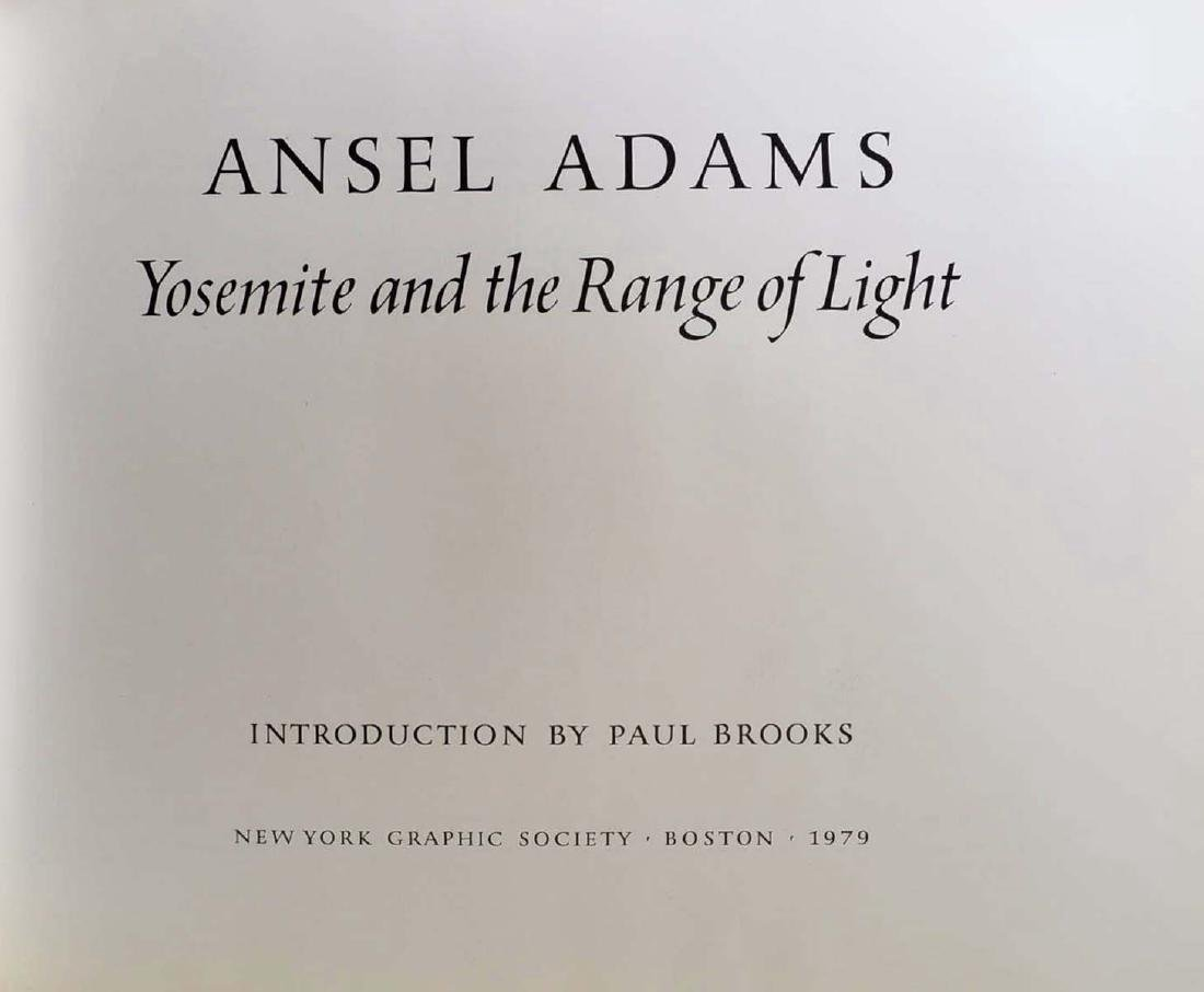 Yosemite and the Range of Light Signed by Ansel Adams - 2