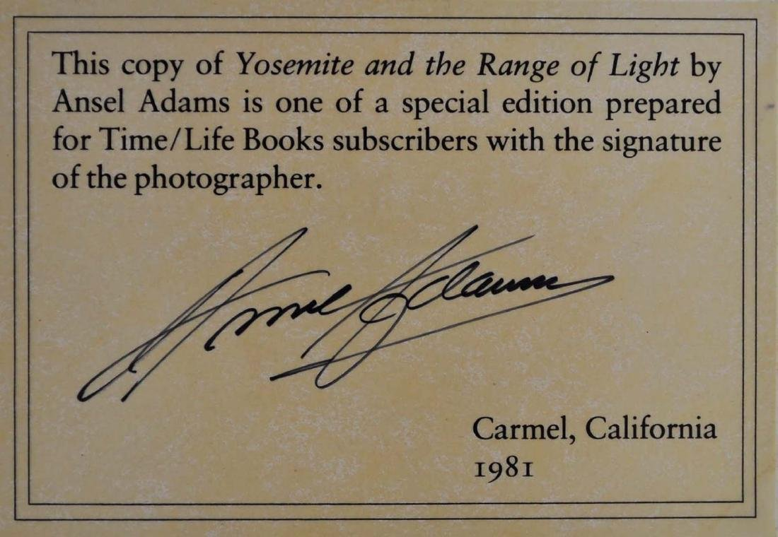 Yosemite and the Range of Light Signed by Ansel Adams - 3