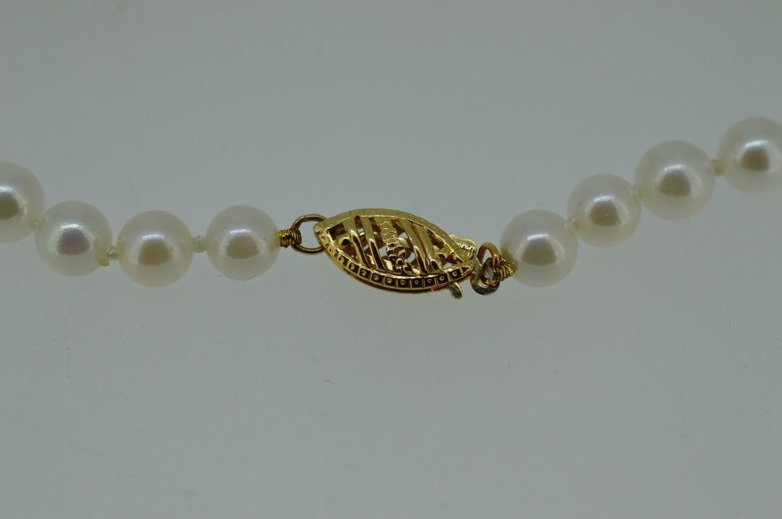 Akoya Pearl Bracelet W/ 14k Yellow Gold Clasp - 5