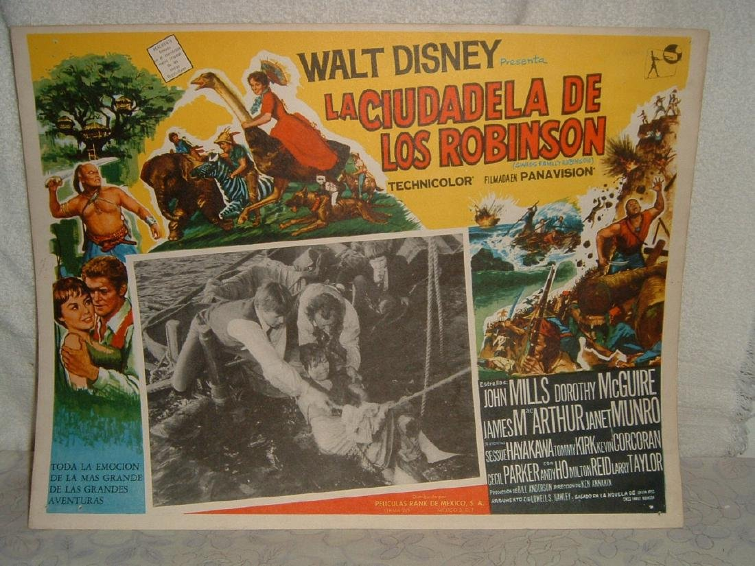 Swiss Family Robinson 1960 Poster