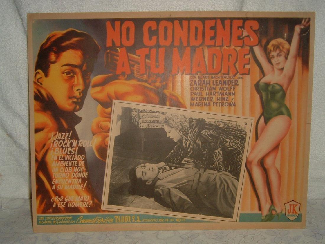 Der Blaue Nachtfalter 1959 Poster