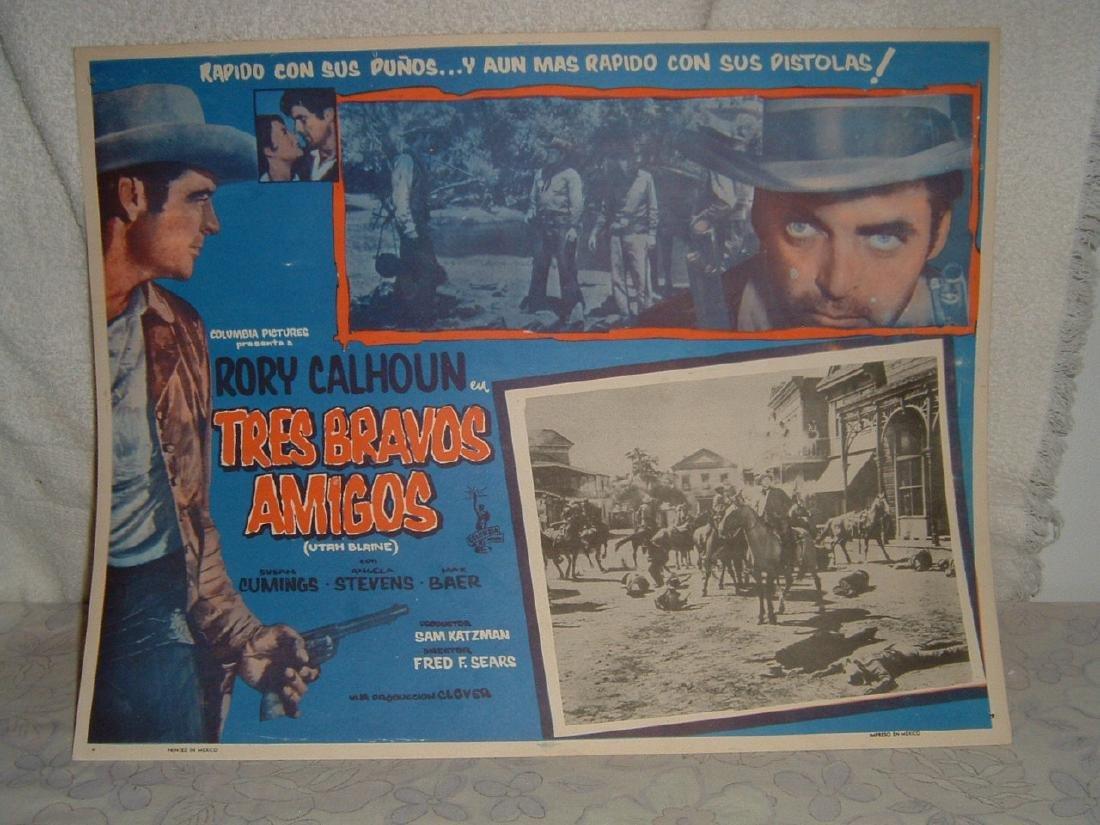Tres Bravos Amigos 1958 Poster