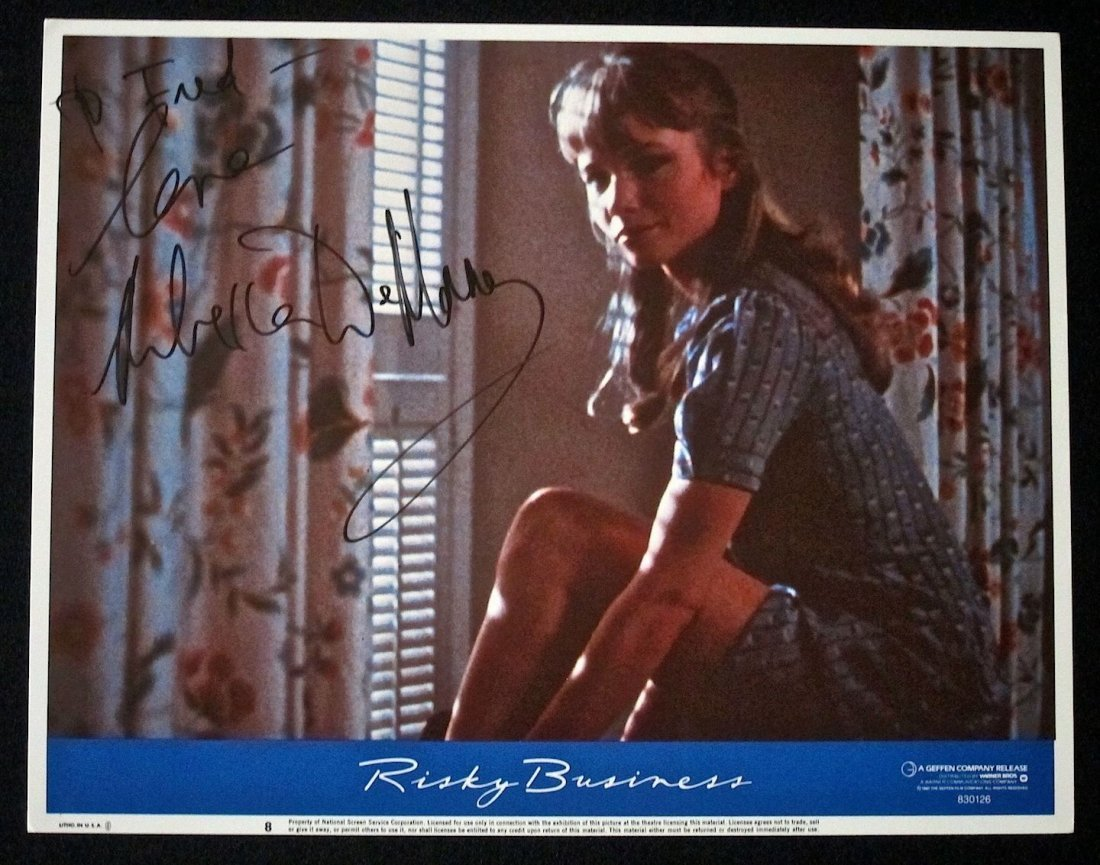 Risky Business Autographed by Rebecca De Mornay Poster