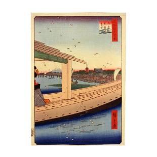 Ando Hiroshige: Distant View of Kinryuzan